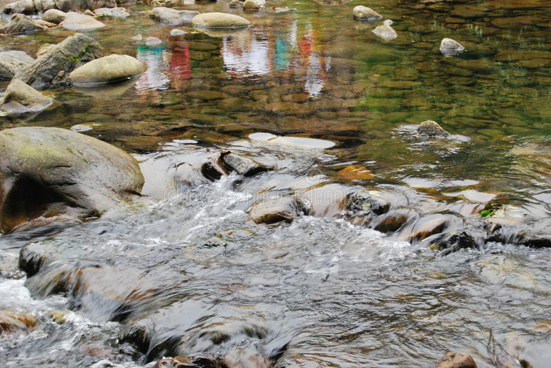 Reflections in the stream of the river royalty free stock images