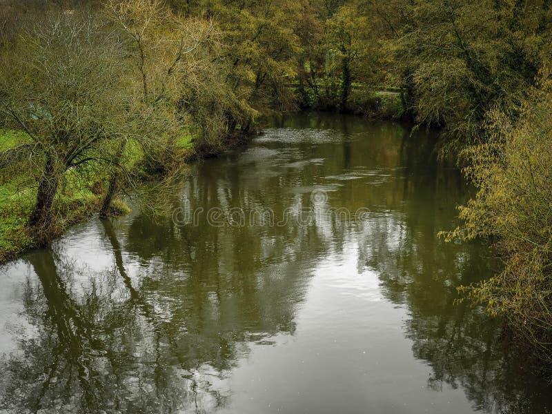 River Arnoia Allariz stock photo