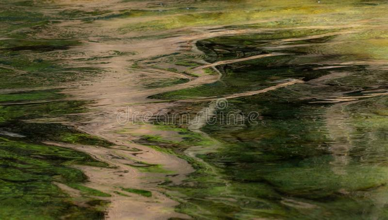 Reflections on water create an abstract pattern royalty free stock image