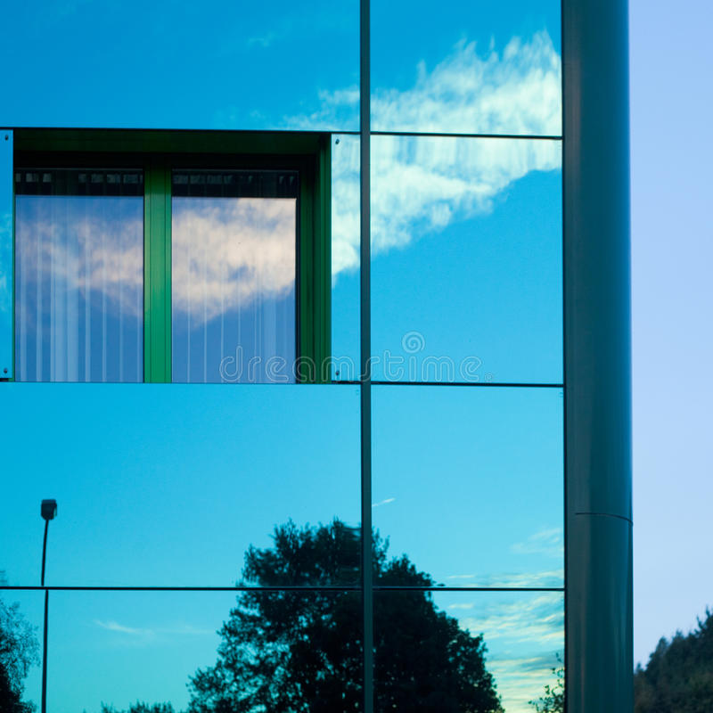 Download Reflective building stock image. Image of cleanliness - 17729805