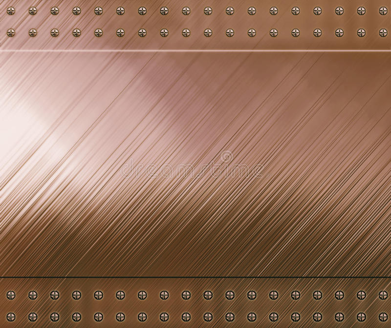 Reflective Copper Background Stock Photography