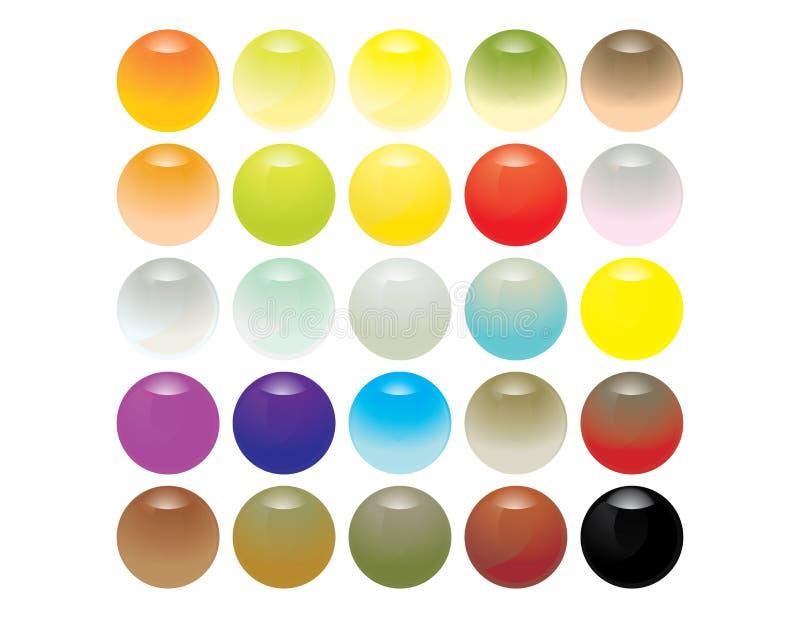 Reflective glassy spheres vector illustration