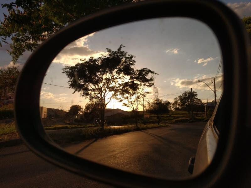Reflective moment stock image