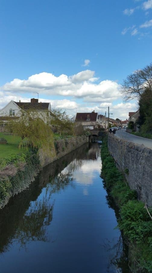 Reflective river stock image