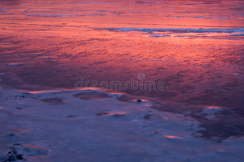 Download Reflective sunrise stock image. Image of cold, sunsets, seasonal - 63521
