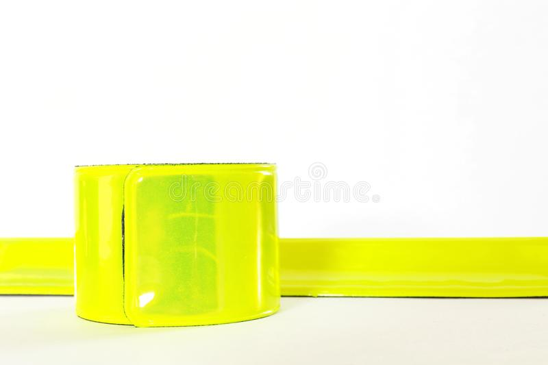 Reflective tapes. Two reflective tapes on white background stock image