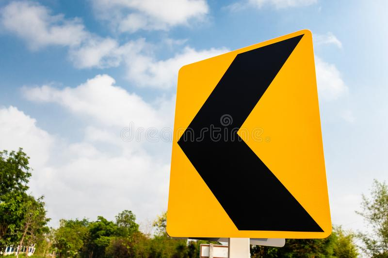 Reflective Traffic Signs and sky. In summer with sky royalty free stock photos