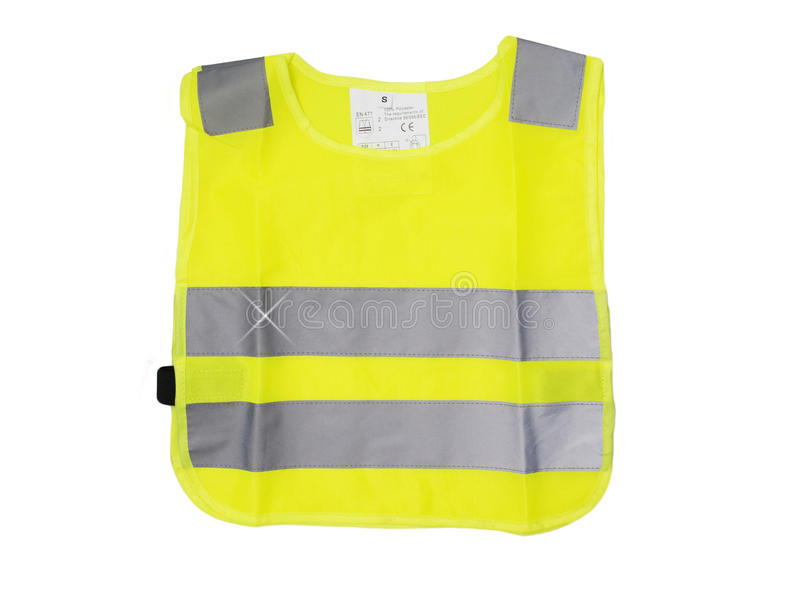 Reflective vest for children stock photo