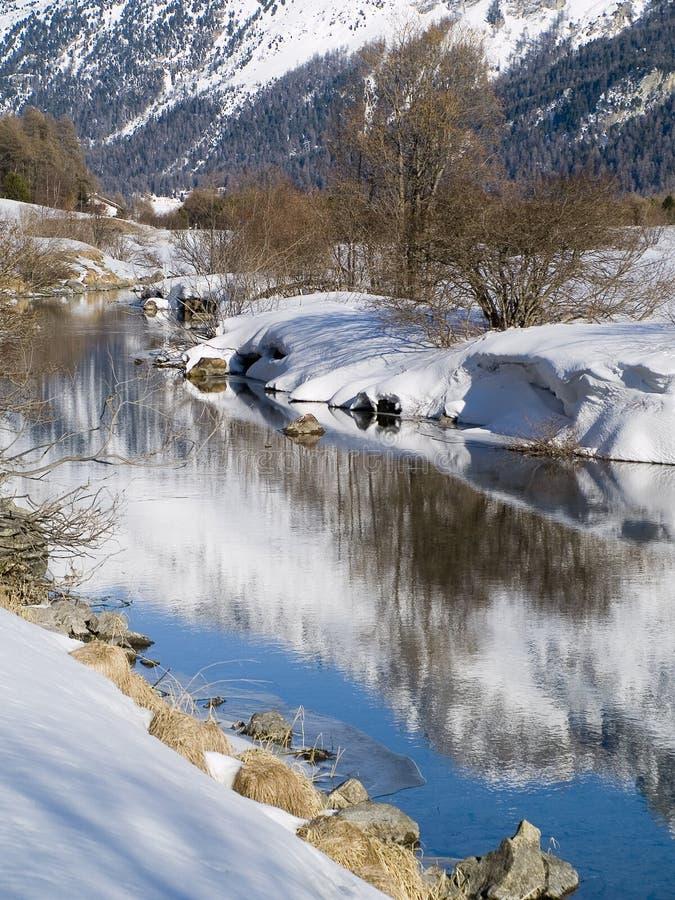 Reflejado en agua foto de archivo libre de regalías