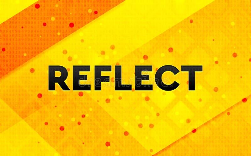 Refleje el fondo amarillo de la bandera digital abstracta ilustración del vector