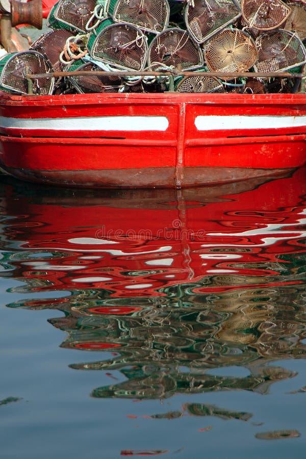 refleksje łodzi zdjęcie royalty free