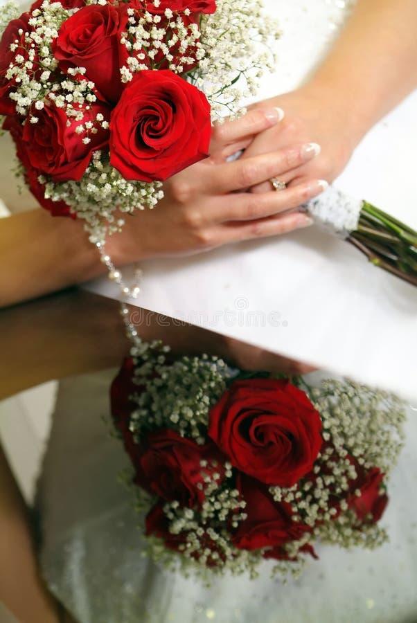 refleksje ślubnych obrazy stock