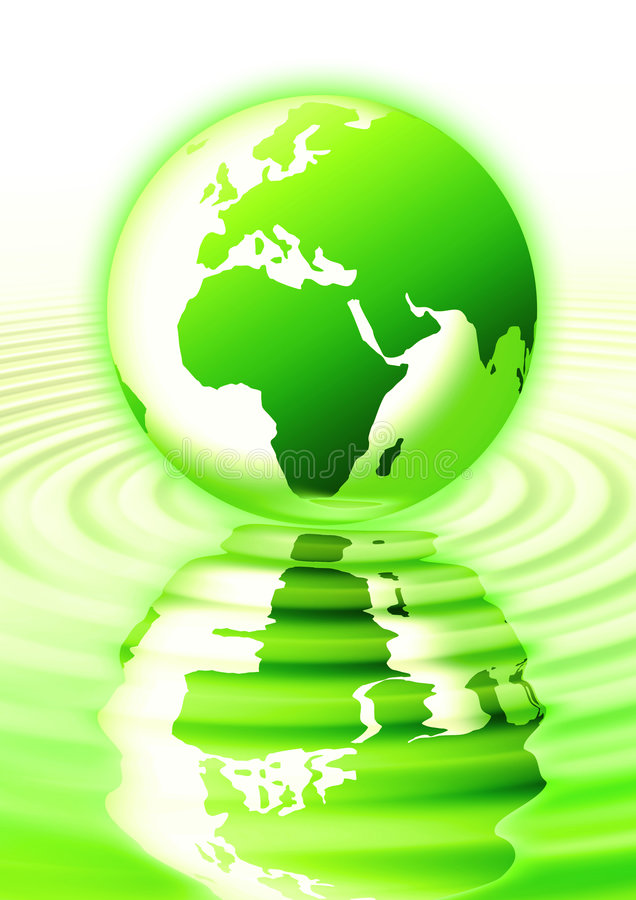 reflektera för jordplanet stock illustrationer