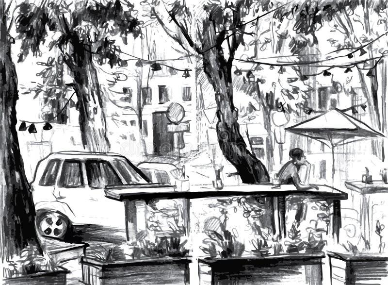 reflekterad flod för stadskremlin liggande natt Gjort av färgpulver på papper stock illustrationer