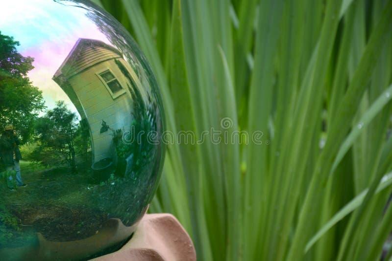 Reflekterande boll royaltyfri fotografi