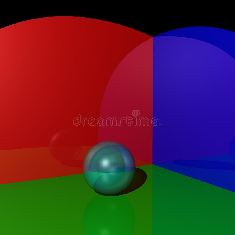reflekterande sphere för material spegel arkivfoton