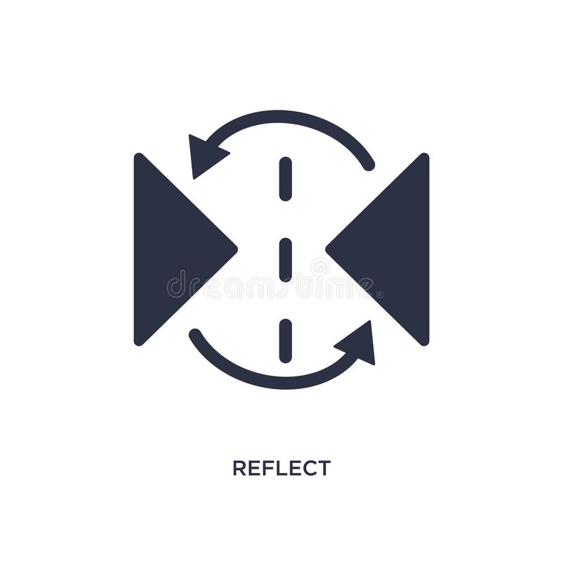 reflektieren Sie Ikone auf weißem Hintergrund Einfache Elementillustration von kreativem pocess Konzept vektor abbildung