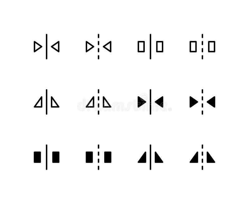 Reflektieren Sie Ikone Logo Vector Symbol Flip Icon Isolated auf weißem Hintergrund lizenzfreie abbildung