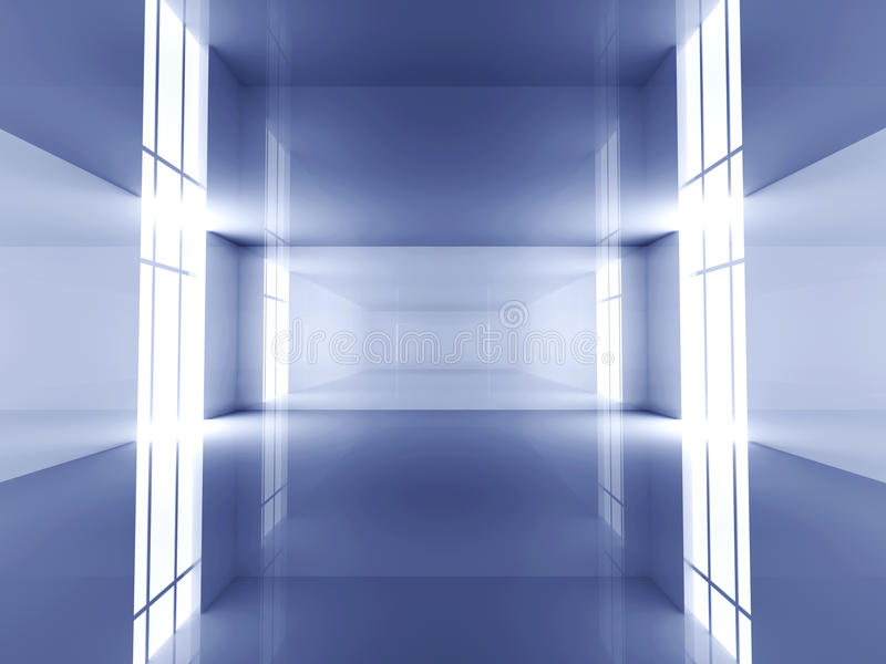 Reflektierender Raum lizenzfreie abbildung