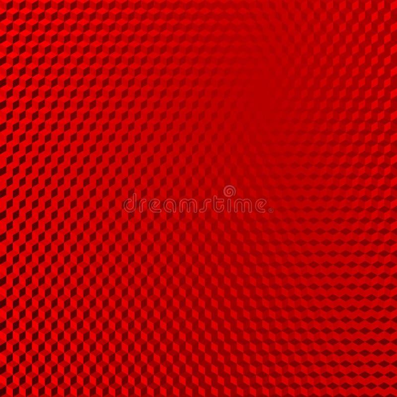 Reflektierender roter abstrakter isometrischer Formhintergrund des Fahrzeugs vektor abbildung