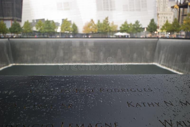 Reflektierendes Pool am Staatsangehörig-am 11. September Denkmal lizenzfreie stockbilder
