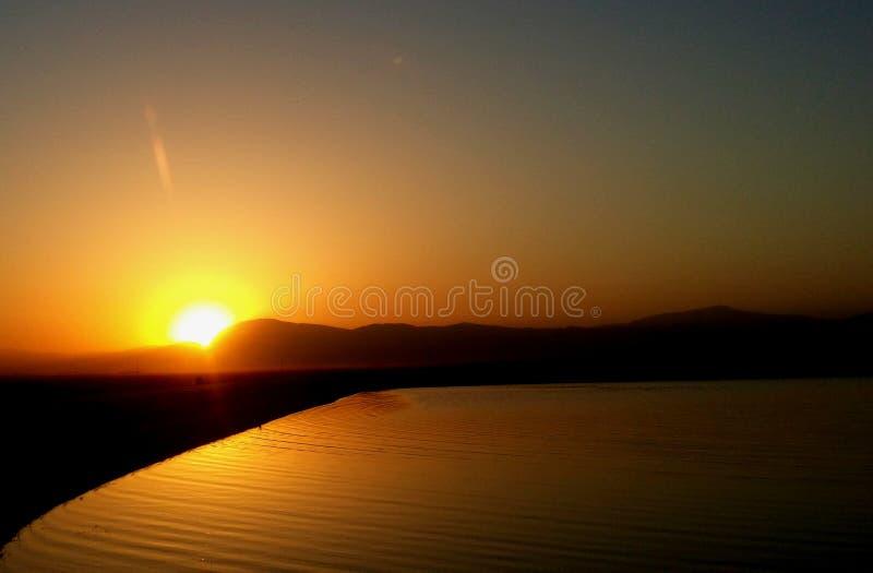 Reflektierter Sonnenaufgang Materra 3 stockbild