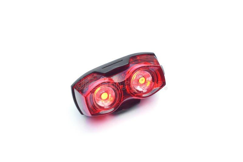 Reflektor för bakre ljus för cykel arkivbild