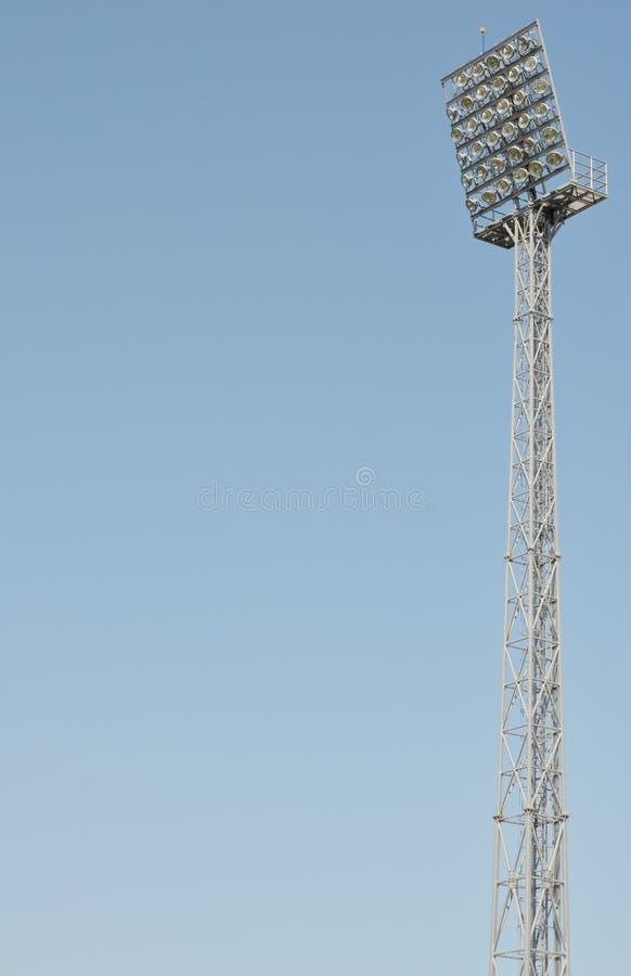 Reflektor i stadion royaltyfri fotografi