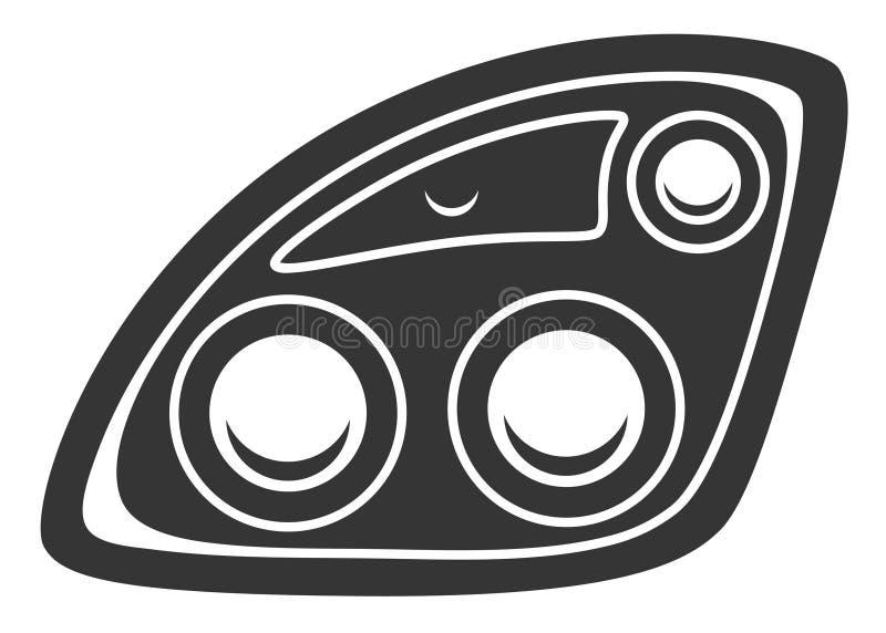 Reflektoru symbol ilustracji