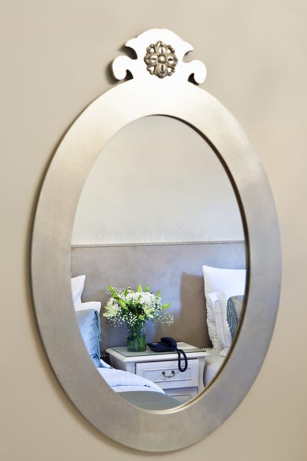 Refletido no espelho foto de stock