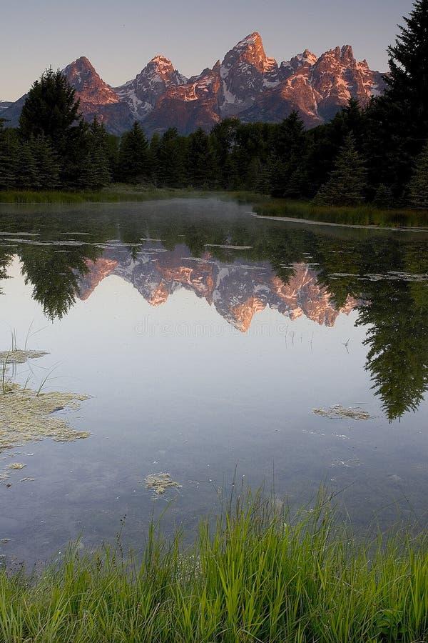 Reflexão 2 de Teton fotografia de stock royalty free