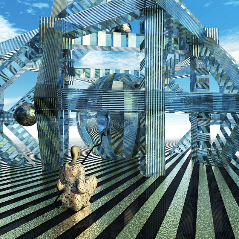 Reflexão ilustração do vetor
