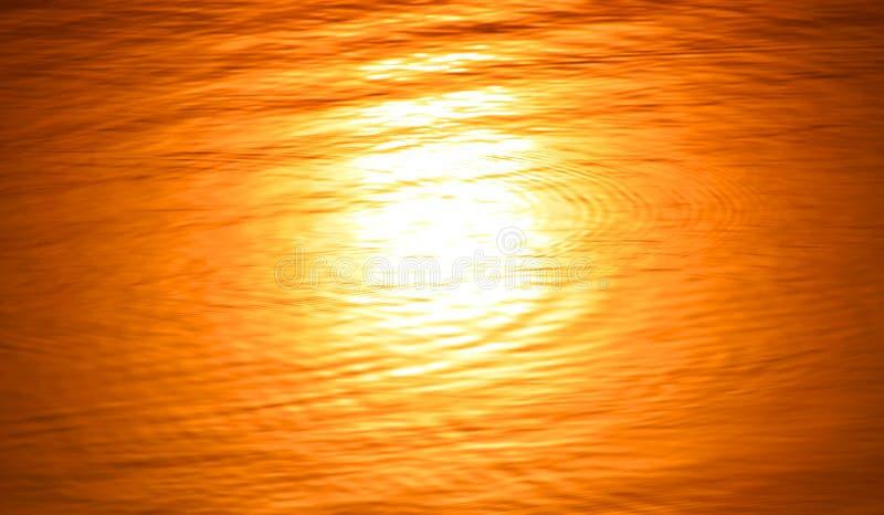 A reflexão borrada água do sol imagens de stock