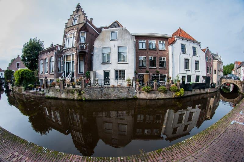 Reflexão da arquitetura holandesa foto de stock
