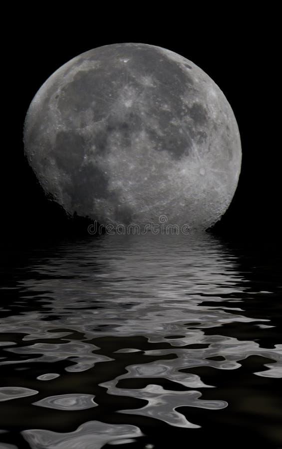 Reflexão da lua fotos de stock
