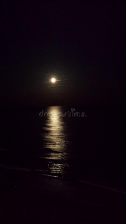 Reflexão da lua em Myrtle Beach imagem de stock royalty free