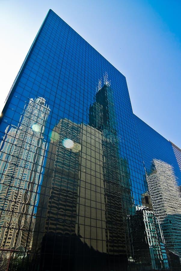 A reflexão de Chicago   foto de stock