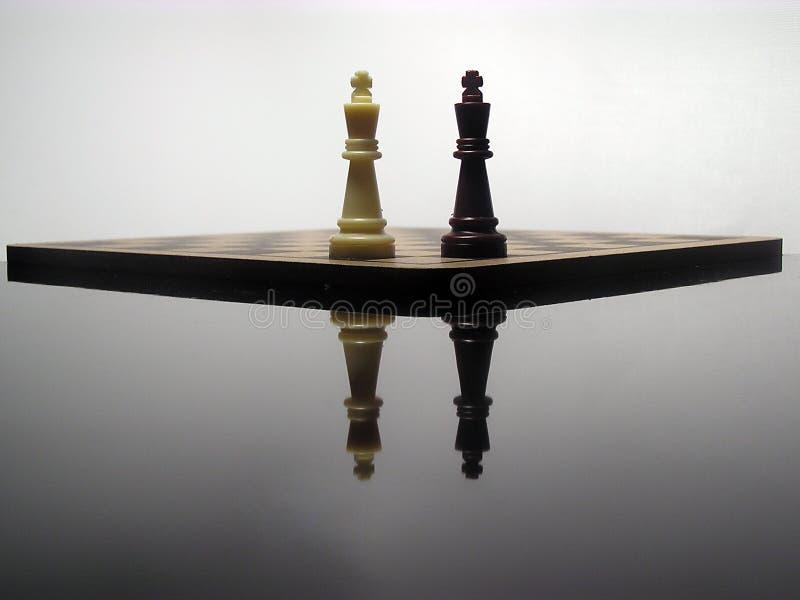 Reflexão de reis da xadrez imagem de stock