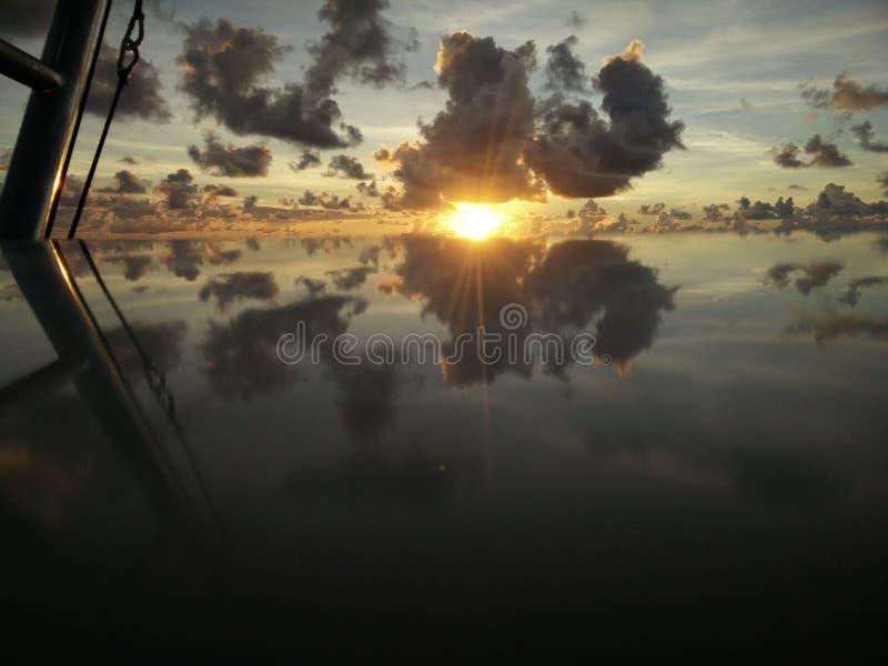 Reflexão de Waku foto de stock