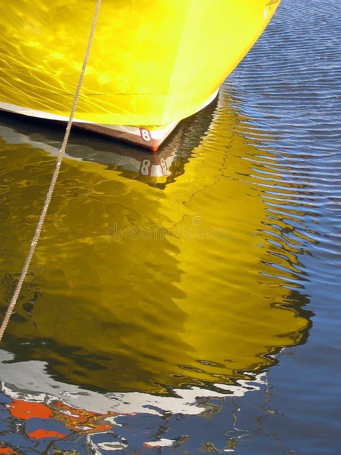 Reflexão do barco imagem de stock royalty free