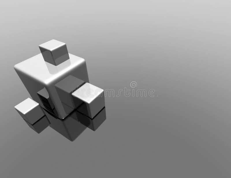 reflexão do cubo 3d ilustração stock
