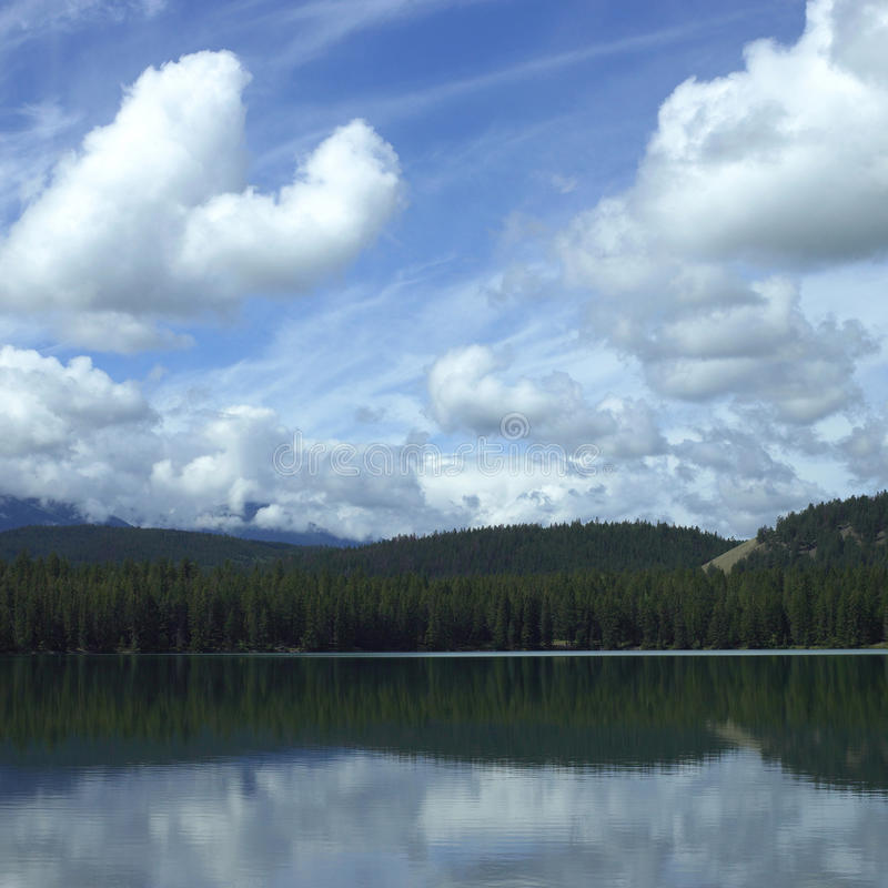 Reflexão do lago imagem de stock