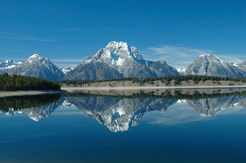 Reflexão do lago Jackson imagens de stock royalty free