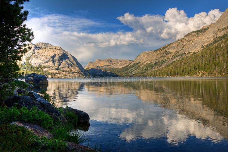 Reflexão do lago Tenaya, Yosemite foto de stock royalty free