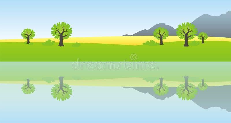 Reflexão do país fotografia de stock