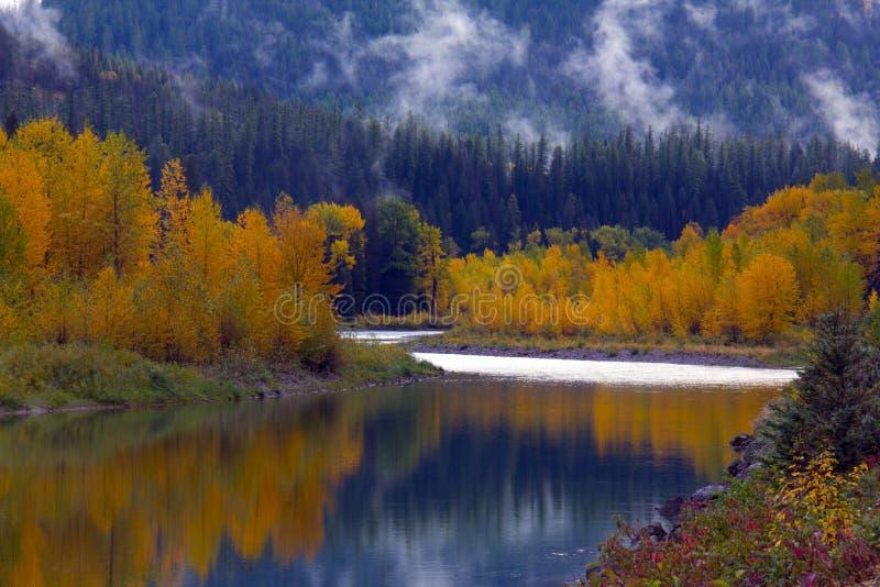 Reflexão do rio do outono imagens de stock royalty free