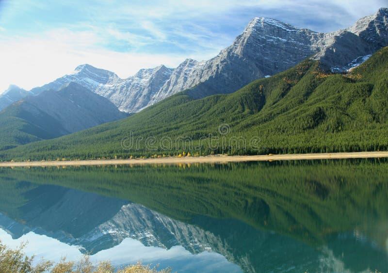 Reflexão dos lagos spray foto de stock
