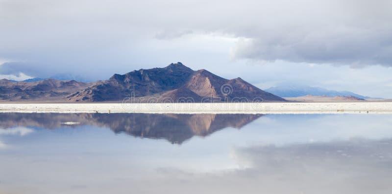 Reflexão dos planos de sal de Bonneville imagem de stock