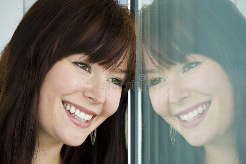 Reflexão Feliz Foto de Stock