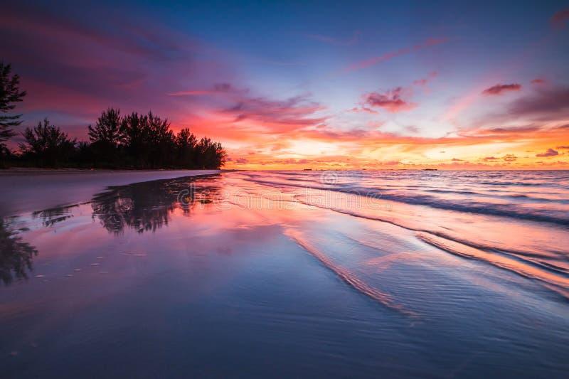 Reflexão impressionante do por do sol foto de stock royalty free